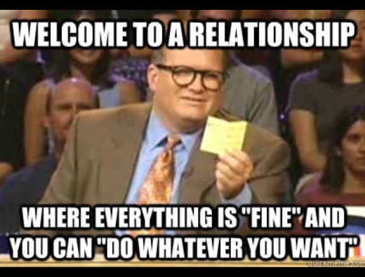 drew carey whose line welcome relationship everything is fine do what u want