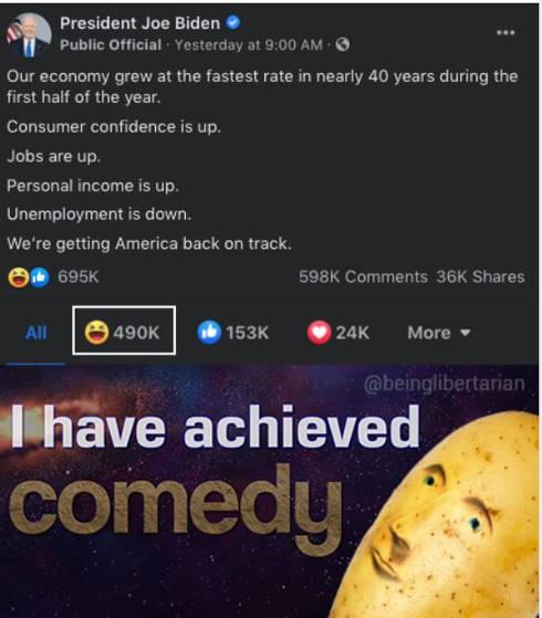 joe biden comedy economy unemployment covid facebook post