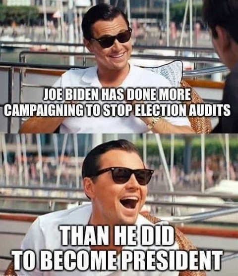joe biden done more campaigning stop election audits that becoming president