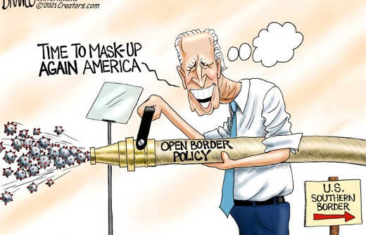 joe biden time to mask up america open border policy covid firehose southern