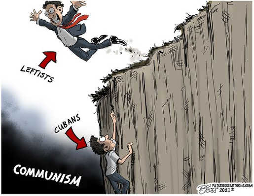 leftists leaping wall for communism cubans climbing out of