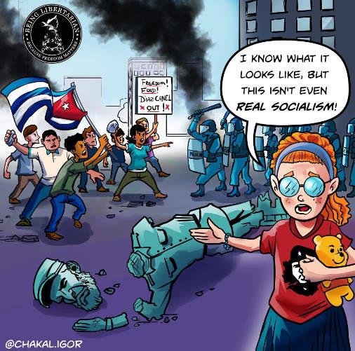 liberals cuba protests not real socialism