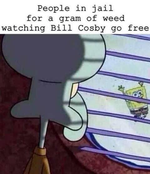 people in jail gram weed watching cosby go free