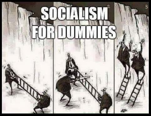 socialism dummies cut ladder two neither get over wall