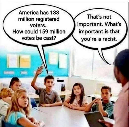 teacher student why more votes than registered youre racist