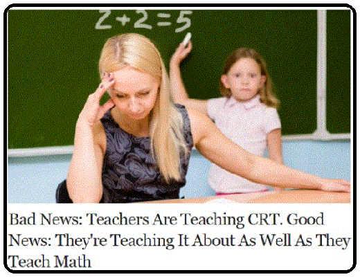 teachers crt bad news good as well as math