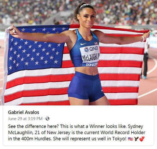 tweet gabriel avalos hurdles winner looks like