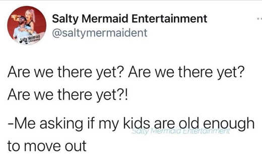 tweet sally mermaid are we there yet asking kids old enough move out