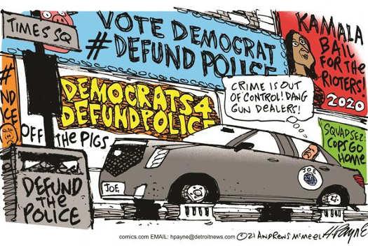 vote democrat defund police gun control republicans fault