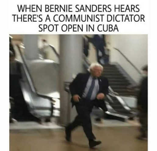 when bernie sanders hears cuban communist dictator position open