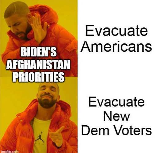 biden afghanistan priorities evacuate americans no future dem voters yes