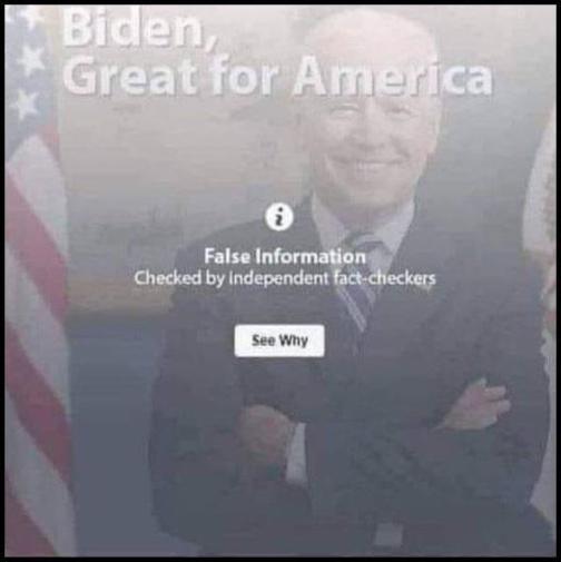 biden great for america false information fact checkers