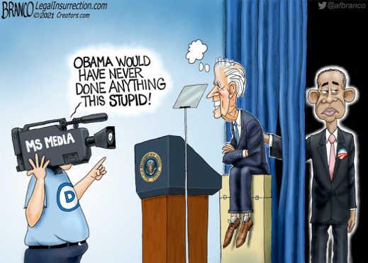 democrats mainstream media obama never done anything this stupid biden puppet