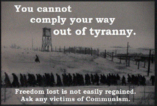 message cannot comply your way out of tyranny freedom lost not easily regained