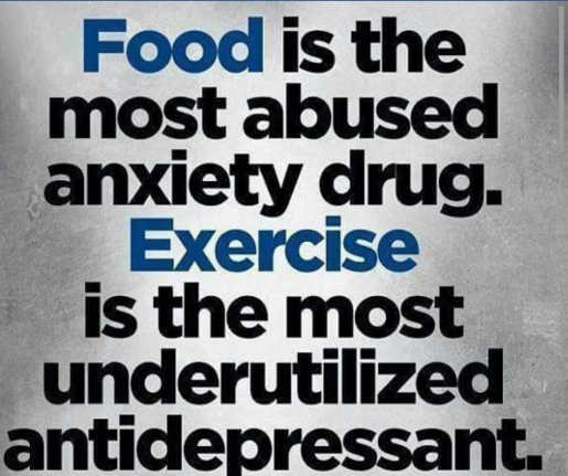 message food most abused drug exercise most underutilized antidepressant