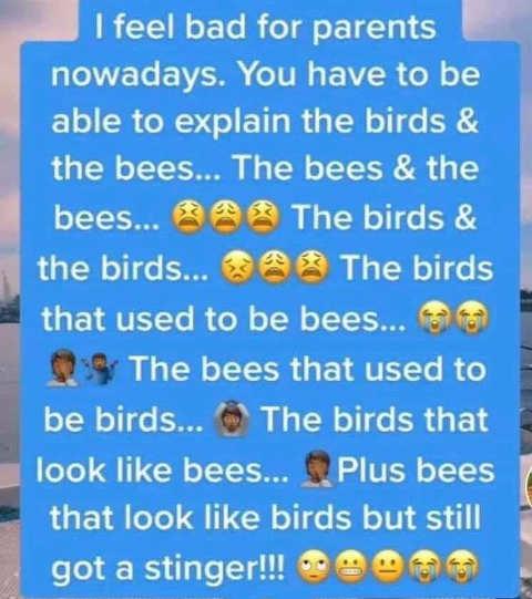 parents teaching kids birds and bees modern