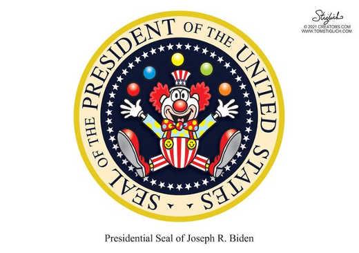 presidential seal joe biden clown