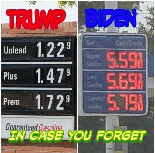reminder trump biden gas price comparison