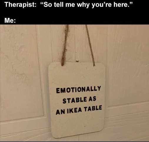 therapist sign emotionally stable ikea