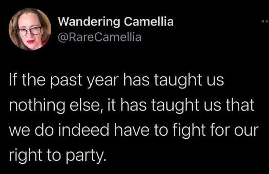 tweet camilla have to fight for right to party