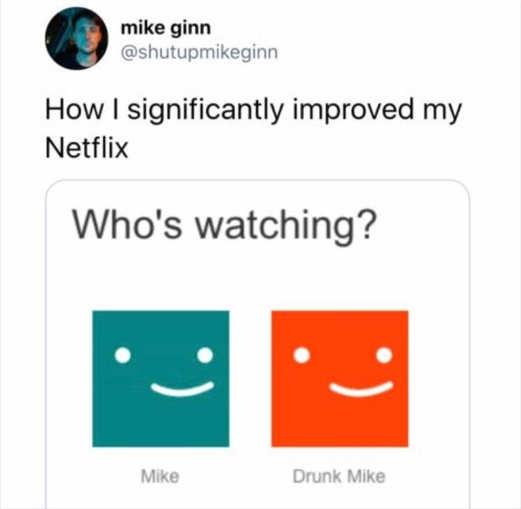 tweet mike gunn drunk mike netflix profile