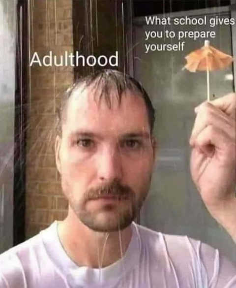 adulthood raining what school gives you to prepare drink umbrella