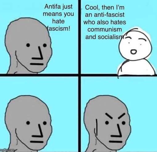 antifa anti fascist also hate communism socialism