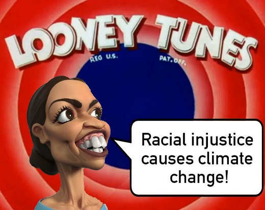 aoc looney tunes racial injustice causes climate change