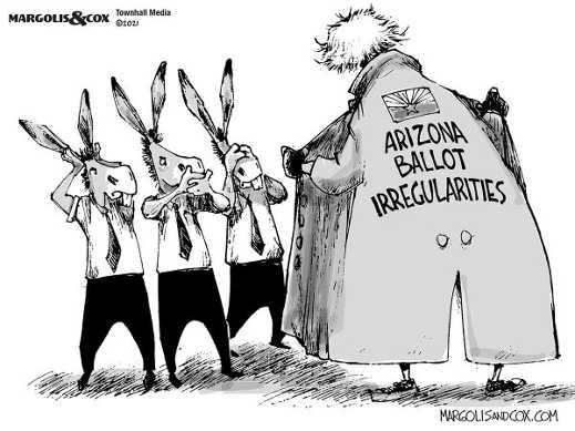 arozona ballot irregularities democrats hear see speak no evil