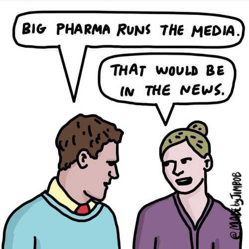 big pharma runs media that woukd be in news