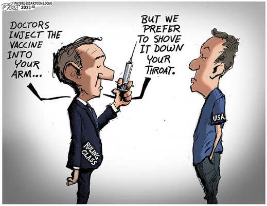 covid vaccine doctors prefer arm ruling class shove down throat