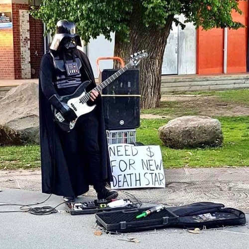 darth vader guitar need money for new death star