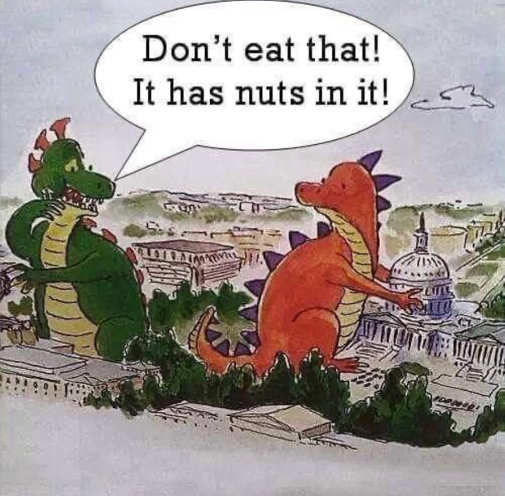 dinosaurs dont eat that has nuts in capitol building dc