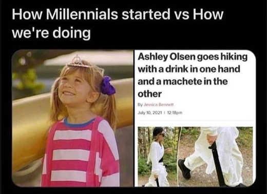 how millenials started doing ashley olsen machete drink