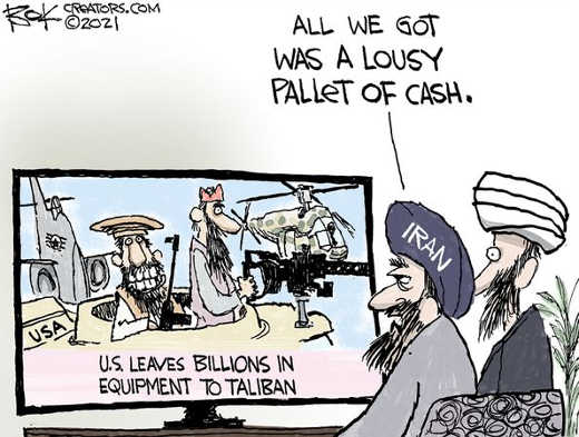 iran got pallet of cash taliban billions equipment