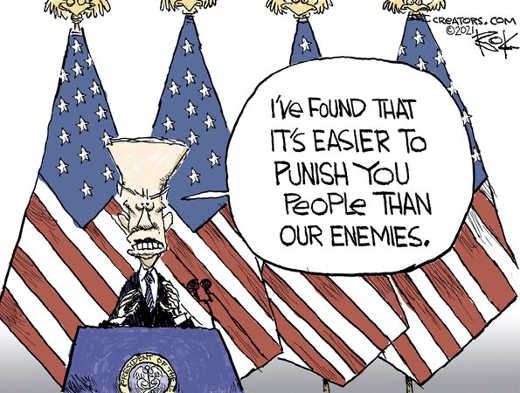 joe biden found easier punish americans than enemies