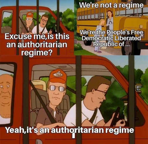 king of hill authoritarian regime democrat liberated republic