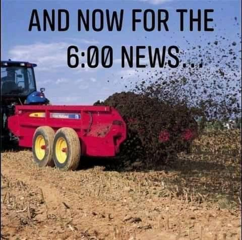now for 6pm news mud dirt shit