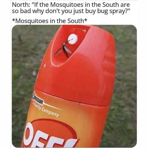 off mosquitoes in south bug spray