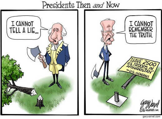 presidents then now washington biden cant remember truth afghanistan