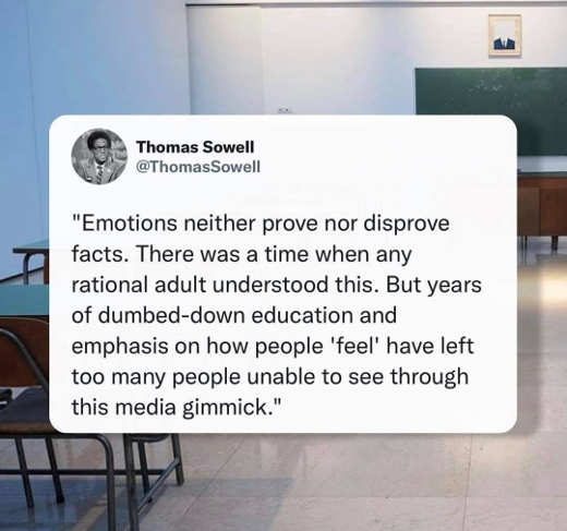quote thomas sowell emotions neither prove disprove facts feel media gimmick