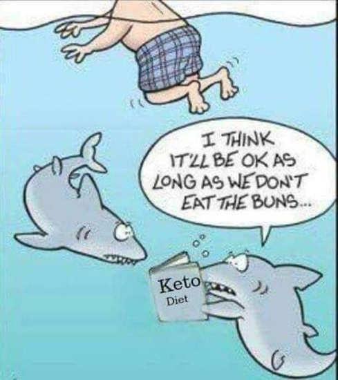 sharks ok long dont eat buns keto diet