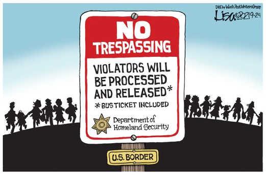 sign nor trespassing border violators processed released bus ticket