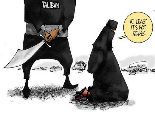 taliban treatment women least not texas