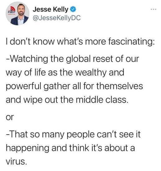 tweet jesse kelly global result people think about virus