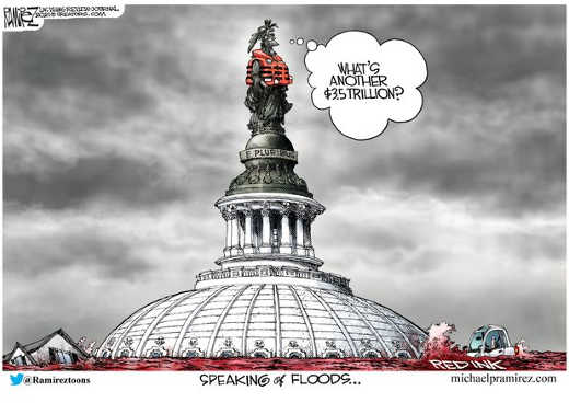 whats another 35 trillion debt dc speaking of red ink floods