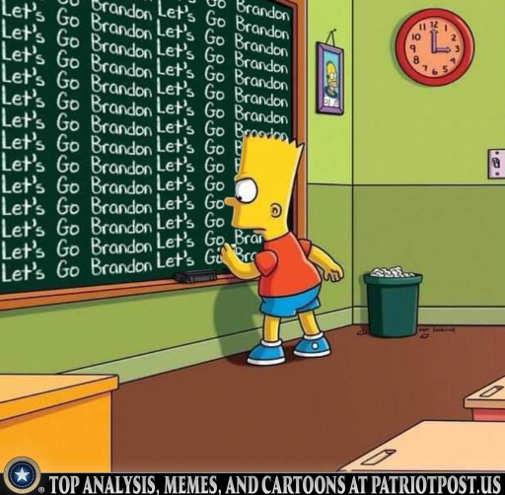 bart simpson chalkboard lets go brandon