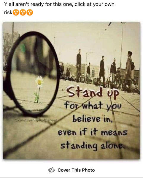 facebook censor stand up for what you believe in even if standing alone