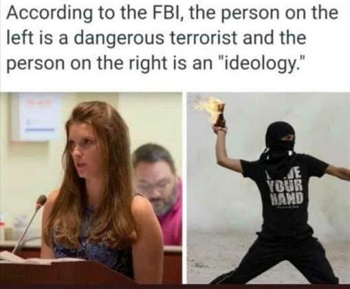 fbi parent dangerous terrorist leftist violence ideology
