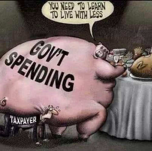 government spending pig debt taxpayer learn live less